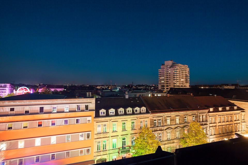 Kärwa Fürth bei Nacht