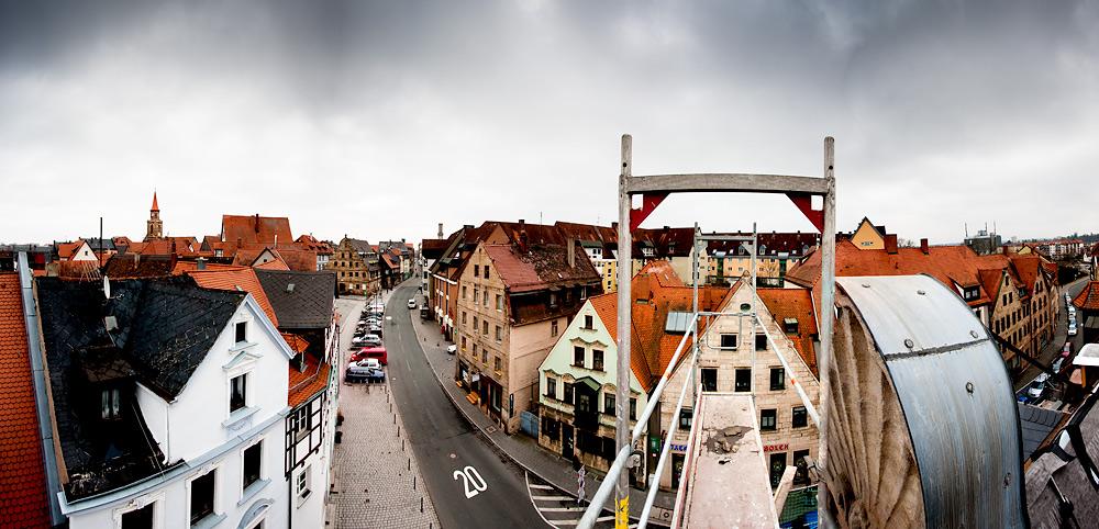 Aussicht über Fürth – Königstraße