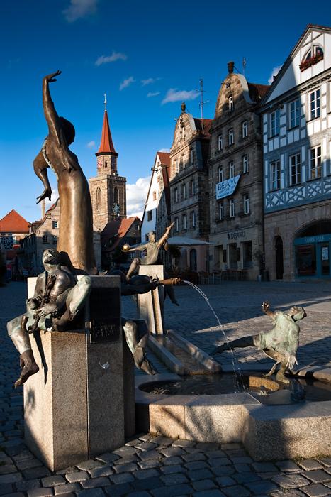 Gauklerbrunnen Grüner Markt Fürth