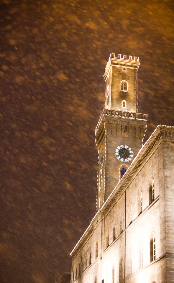 Rathaus Fürth im Schnee