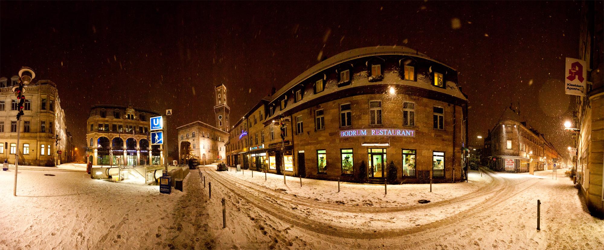Verschneites Fürth / Kohlenmarkt