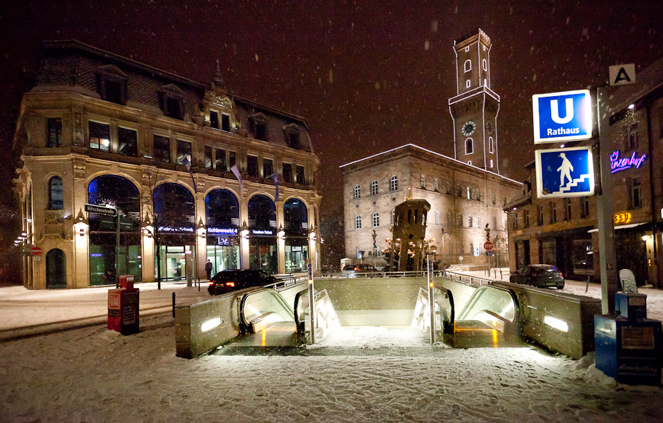 Kohlenmarkt im Schnee