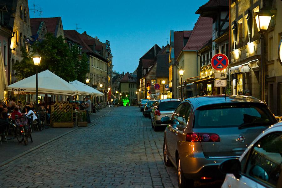 Gustavstraße Kneipenmeile Fürth bei Nacht