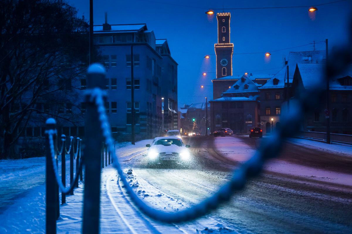 Fürth im Winter – Rathaus