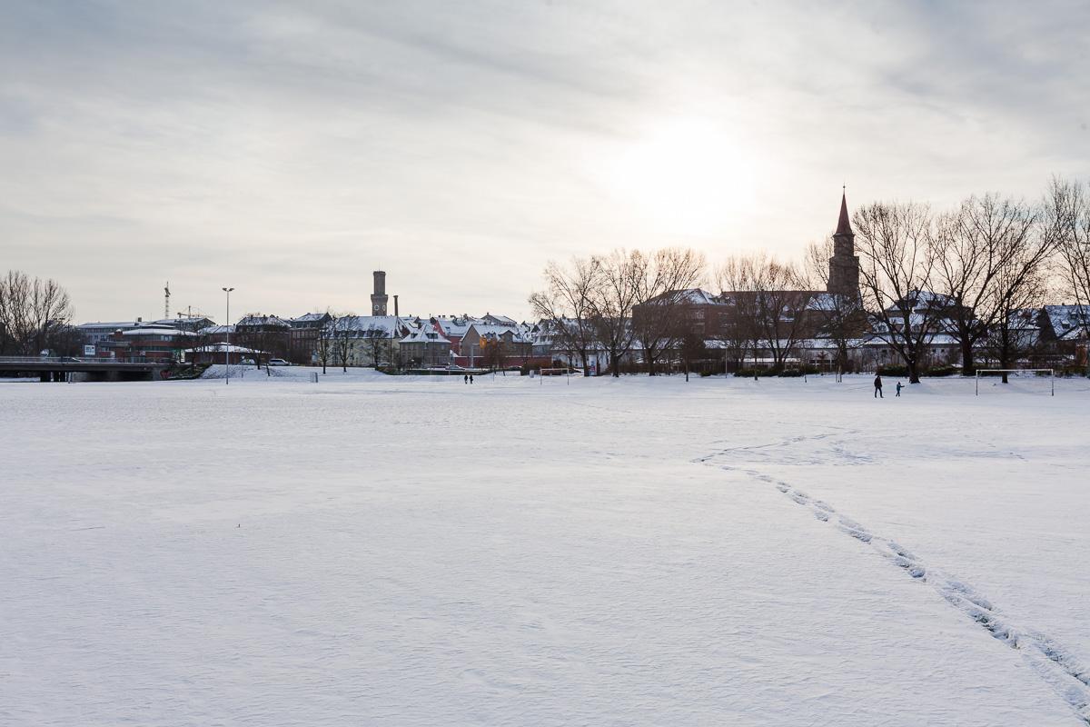 Schnee in Fürth