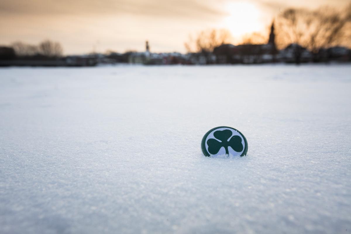 Winter in Fürth – Kleeblatt im Schnee