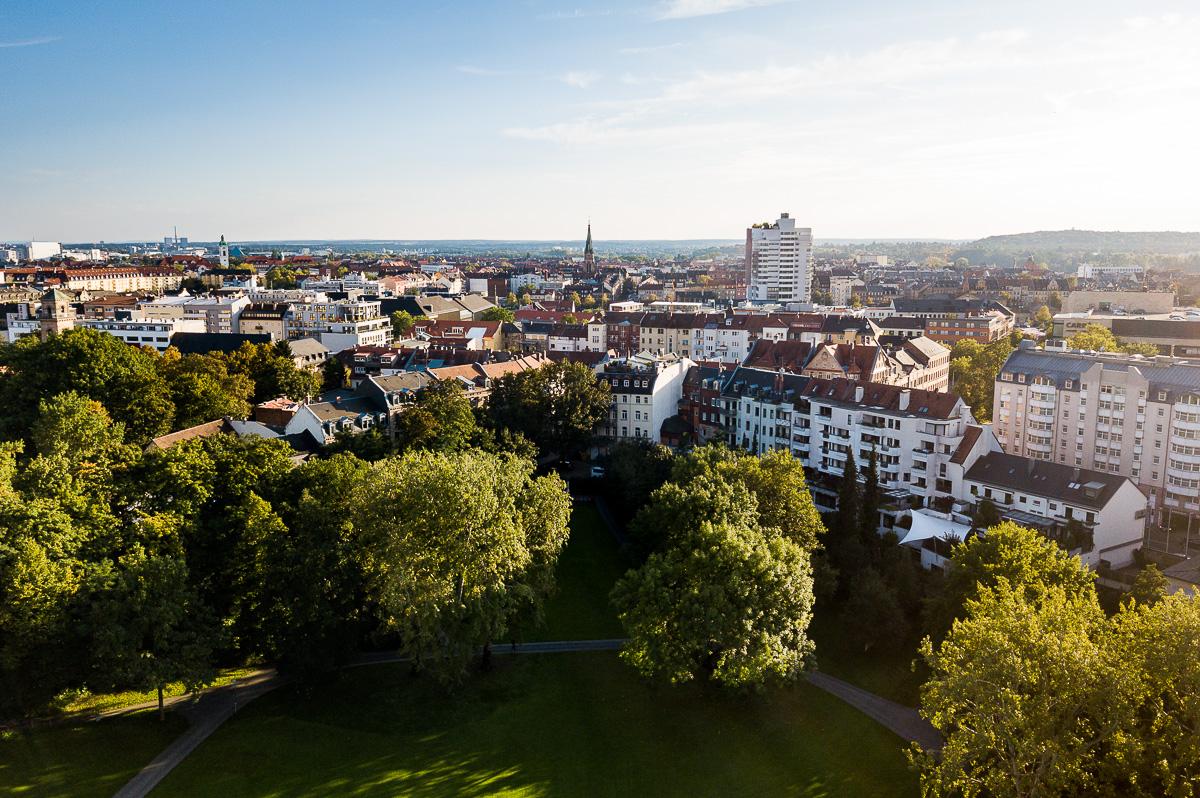 Blick auf Fürth am Stadtpark