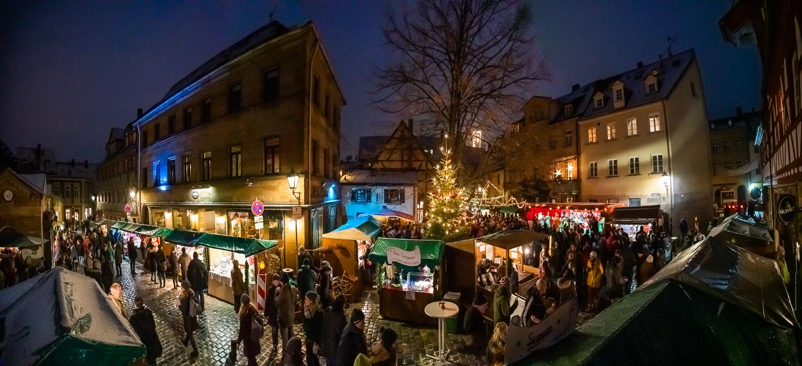 Panorama Weihnachtsmarkt Fürth