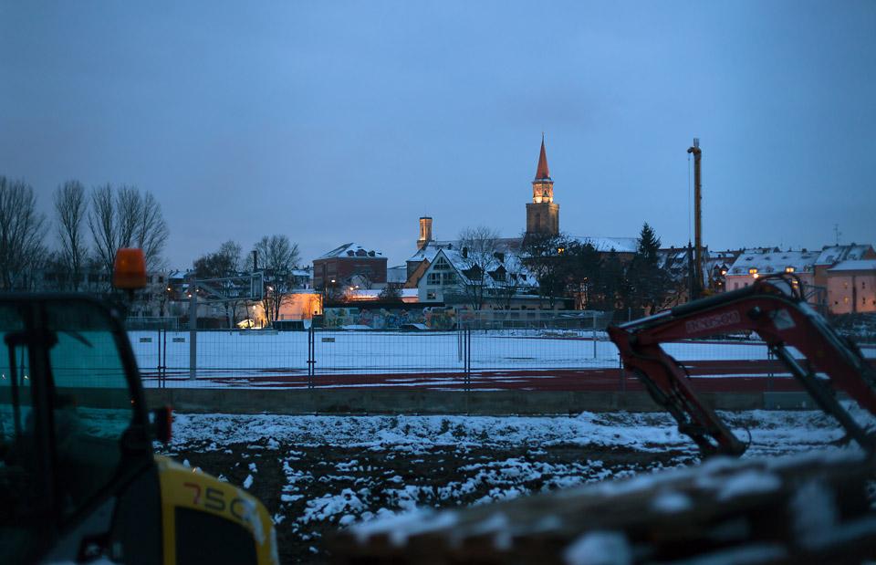 Verschneites Fürth - Skyline