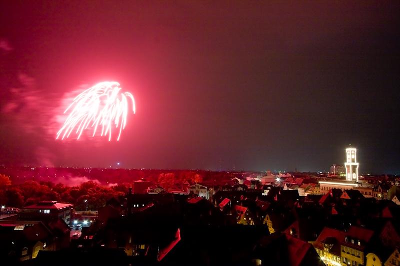 Feuerwerk über Fürth