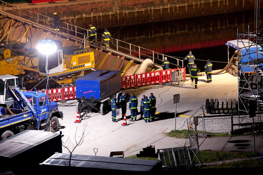 Trockenlegung Kanalbrücke