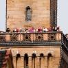 Eröffnungsfanfaren des CVJM-Posaunenchores vom Rathausturm