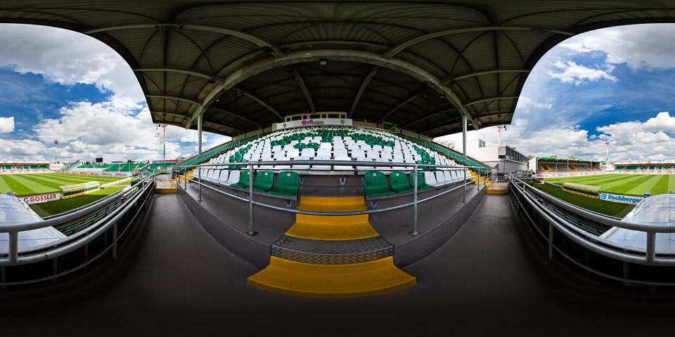 Sportpark Ronhof - Panorama Gästeblock