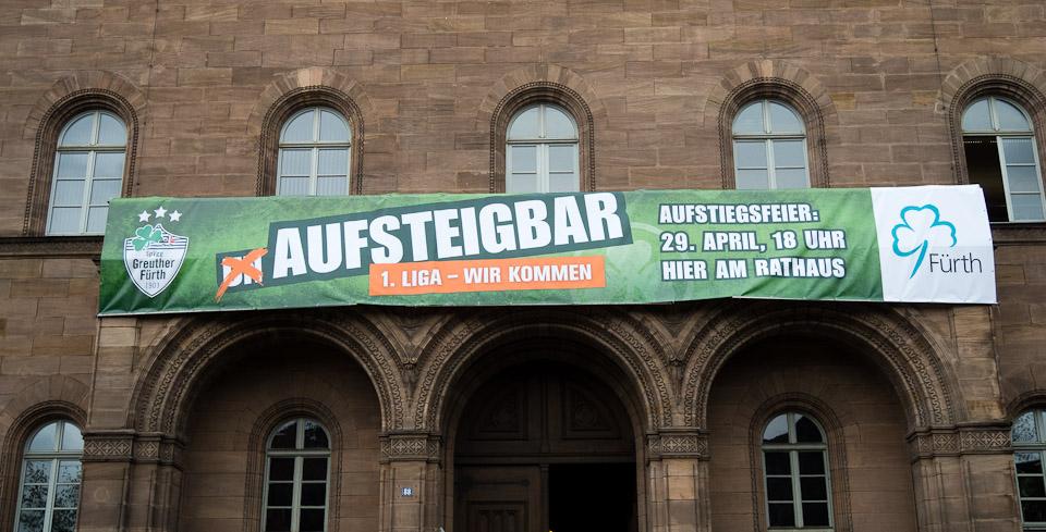 Aufstiegsbanner UNAUFSTEIGBAR Fürth