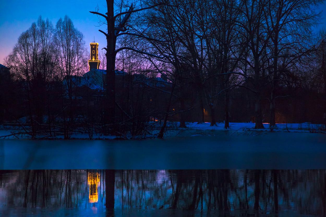 Stadtpark: blaue Stunde