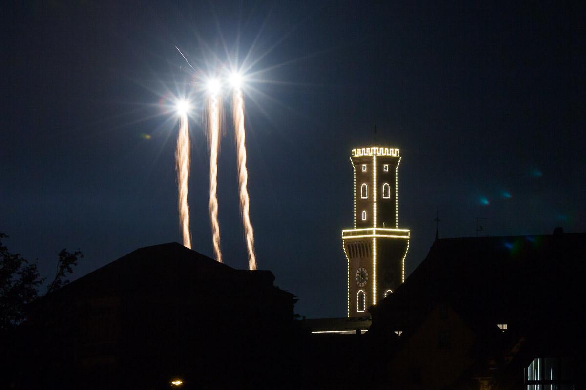 Rathaus Fürth Feuerwerk