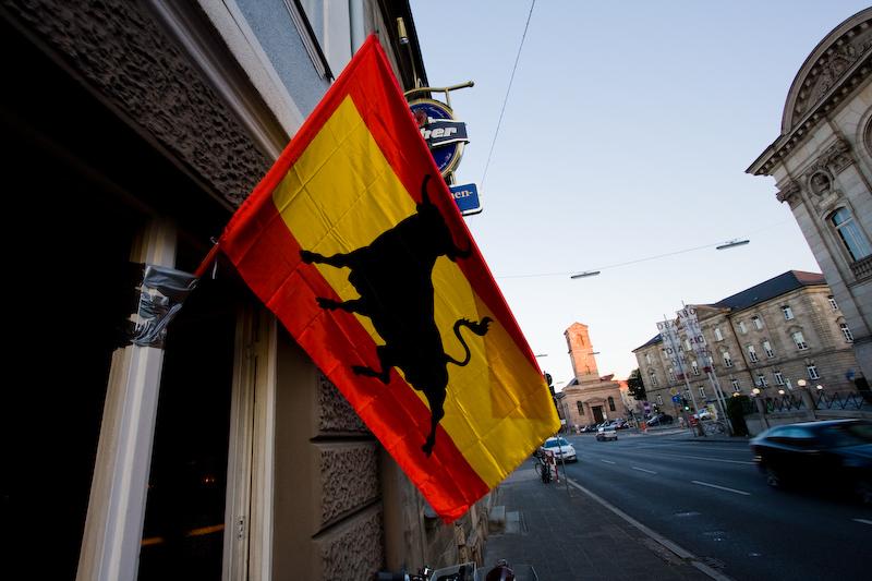 Spanienflagge in Fürth