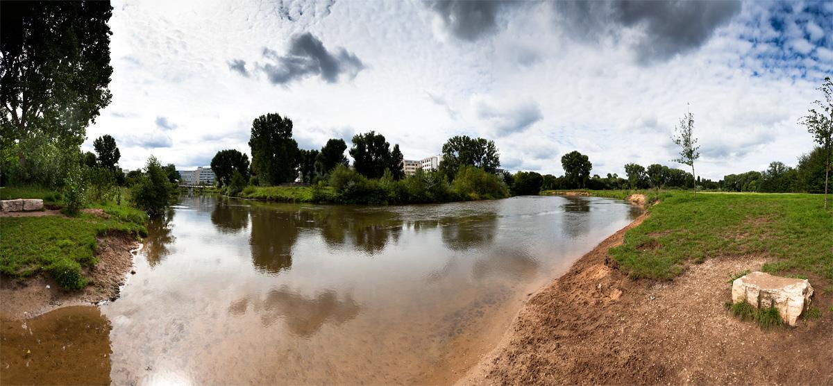 Aussicht Pegnitzufer Uferstadt