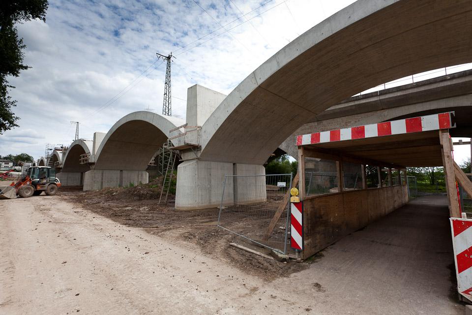 Baustellen Siebenbogenbrücke