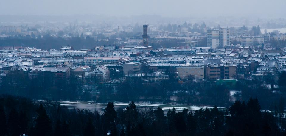 Aussicht auf Fürth – Rathausturm