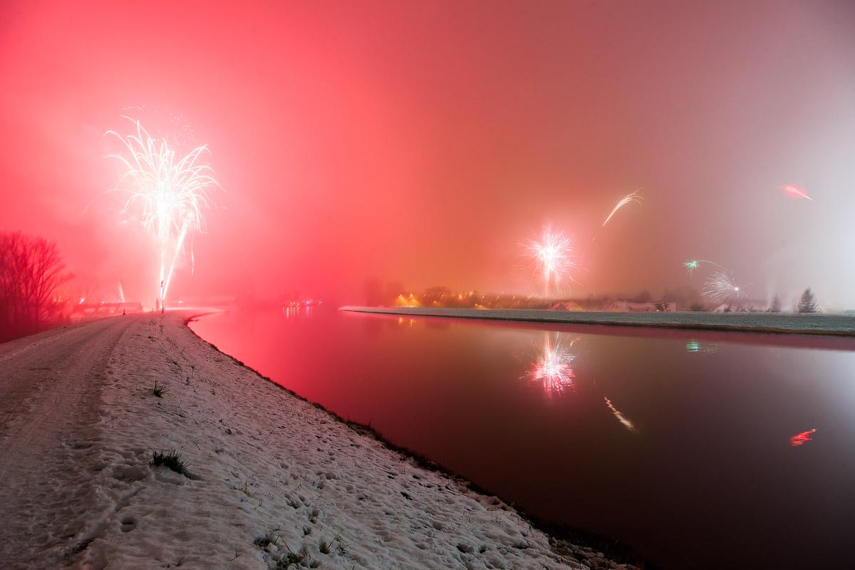 Feuerwerk am Fürther Hafen