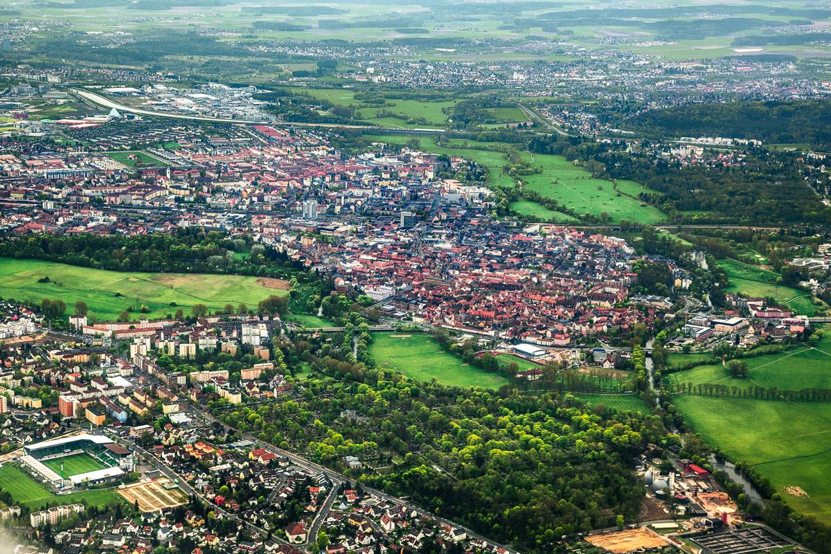 Luftaufnahme von Fürth