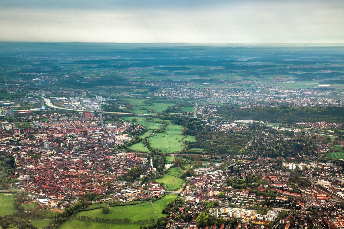 Luftaufnahme Ronhof Stadion Fürth