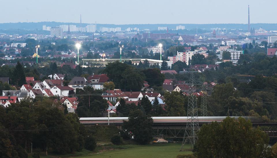 Stadion Fürth Luftaufnahme