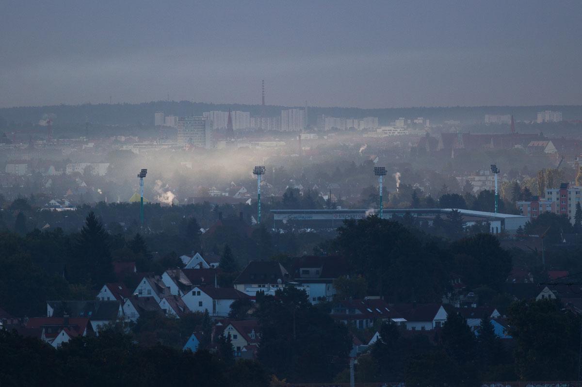 Sportpark Ronhof im Nebel
