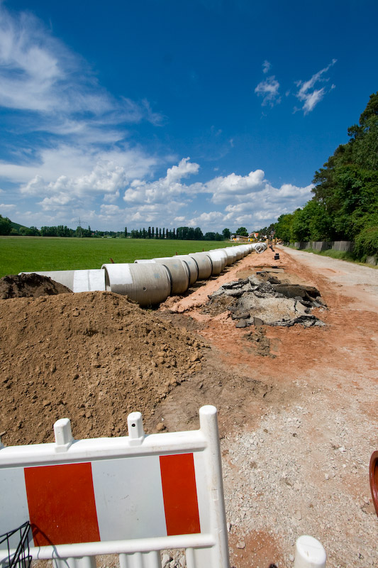 Bauarbeiten Wiesengrund Stadeln Erneuerung Abwasserkanal