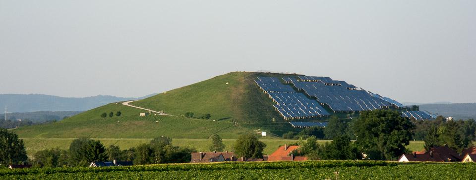 Solarzellen auf dem Fürther Müllberg