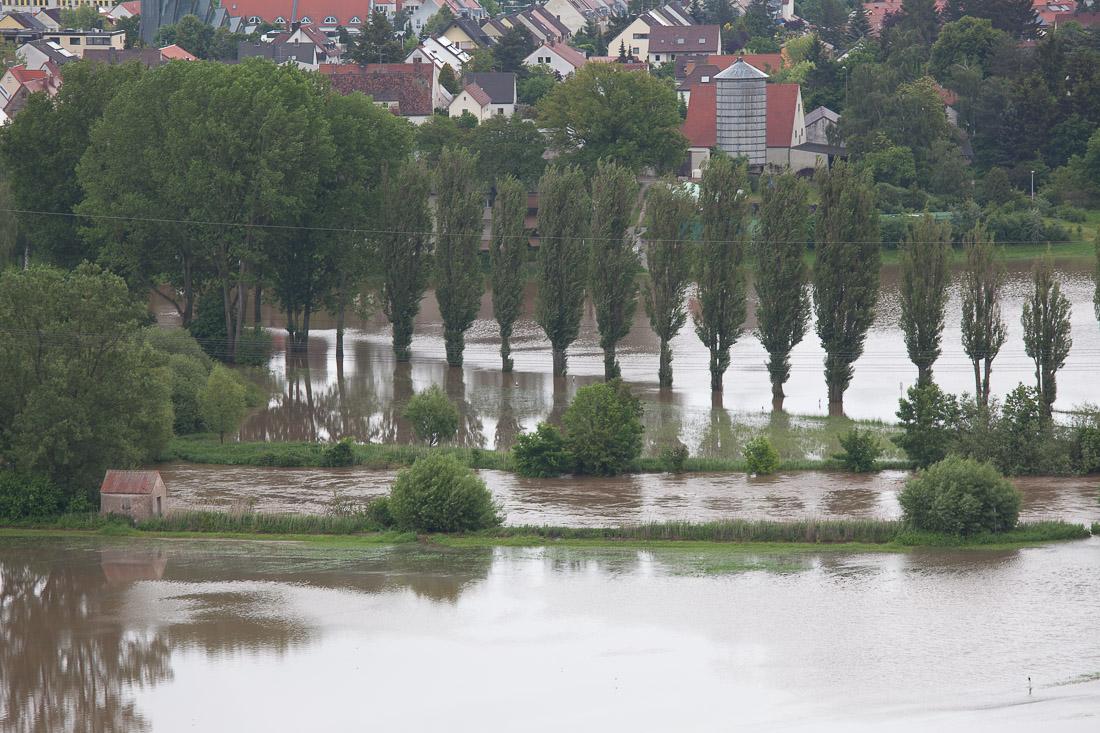 Hochwasser in Fürth Stadeln