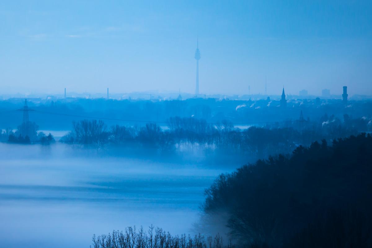 Fürth Skyline im Nebel
