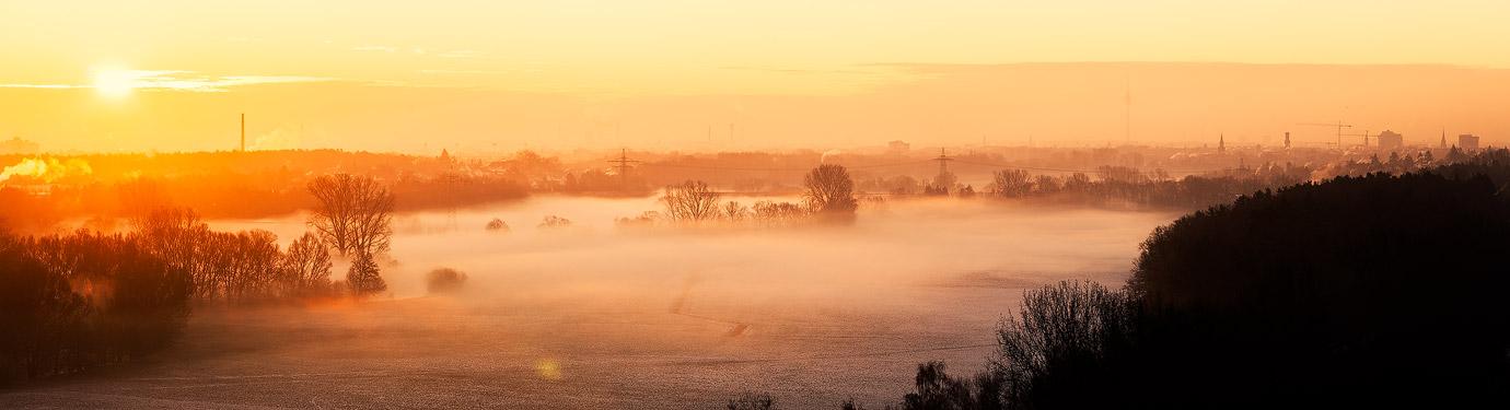 Fürth Nebel Panorama