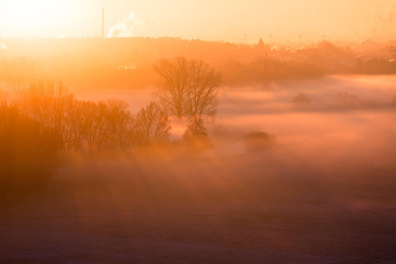 Nebel im Fürther Wiesengrund