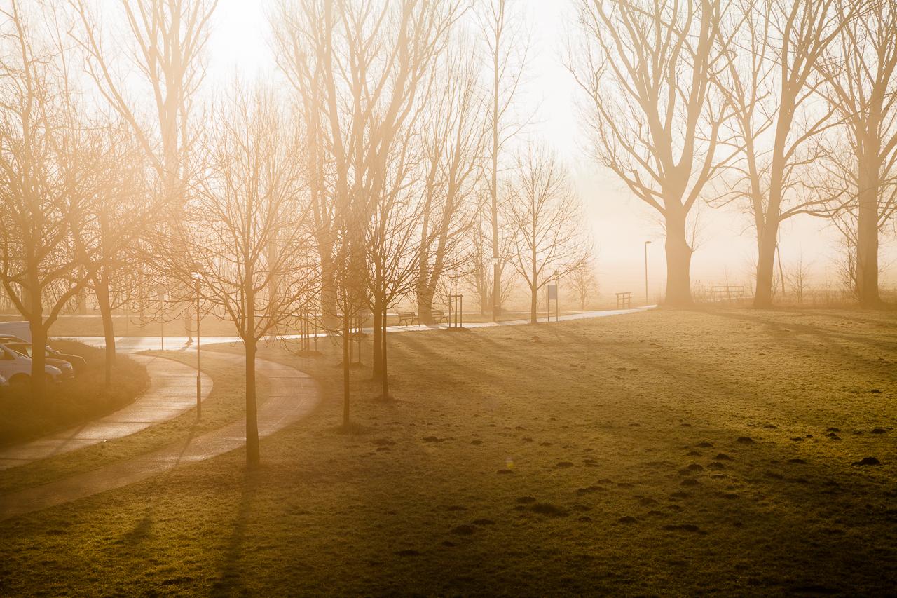 Fürth im Nebel
