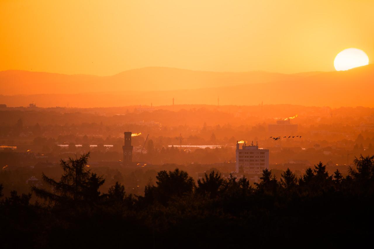 Sonnenaufgang über Fürth
