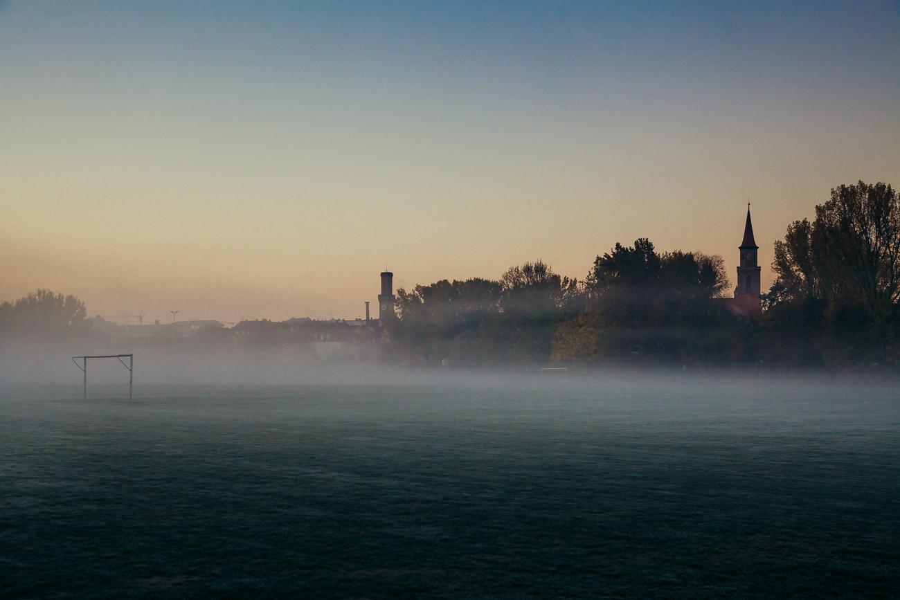 Fürther Schießanger  im Nebel