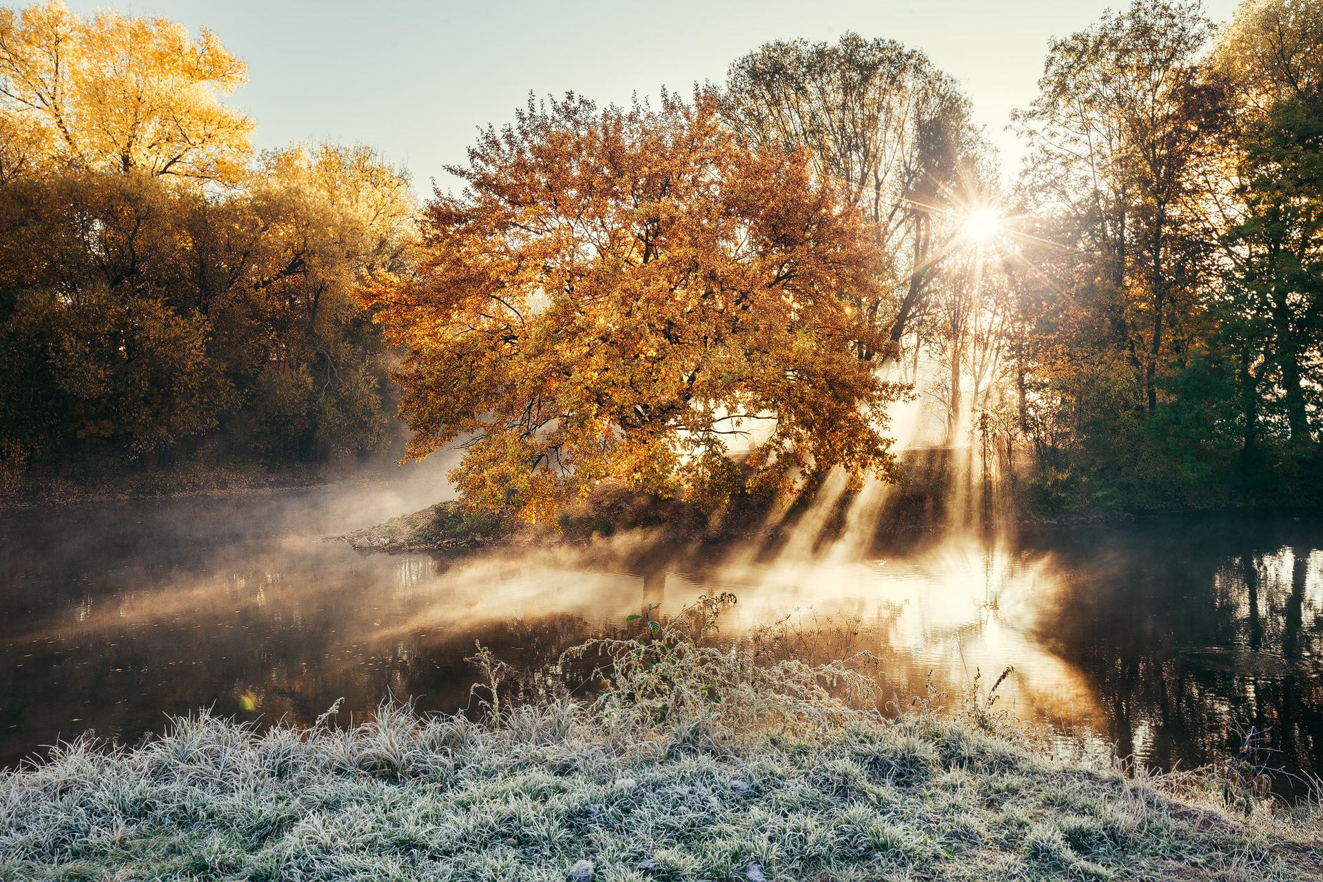 Fürther Flussdreieck im Nebel