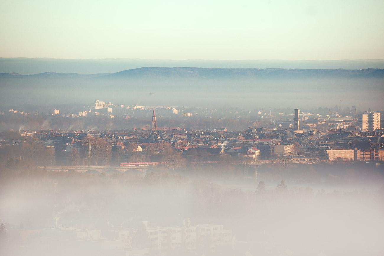Fürther Skyline im Nebel