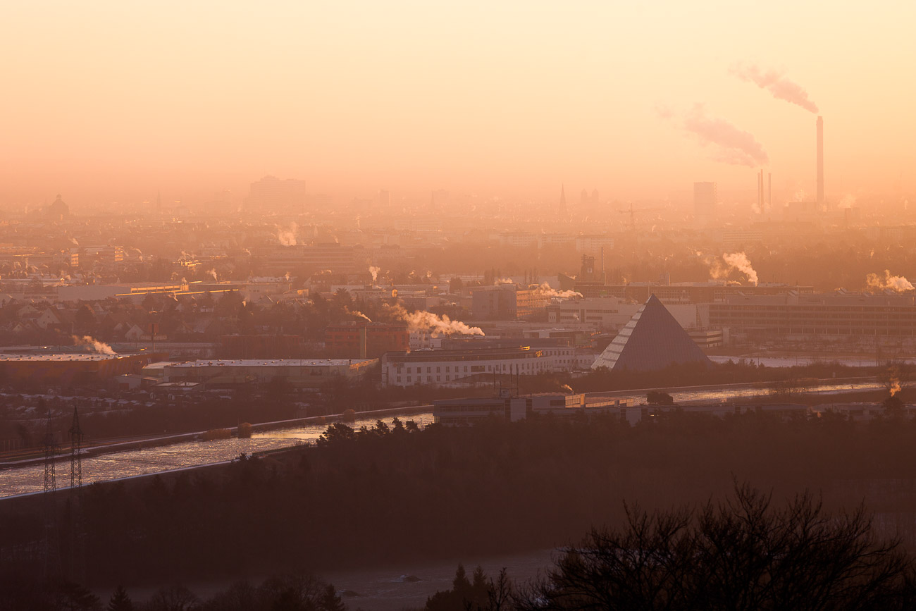 Nürnberg Panorama Sonnenaufgang