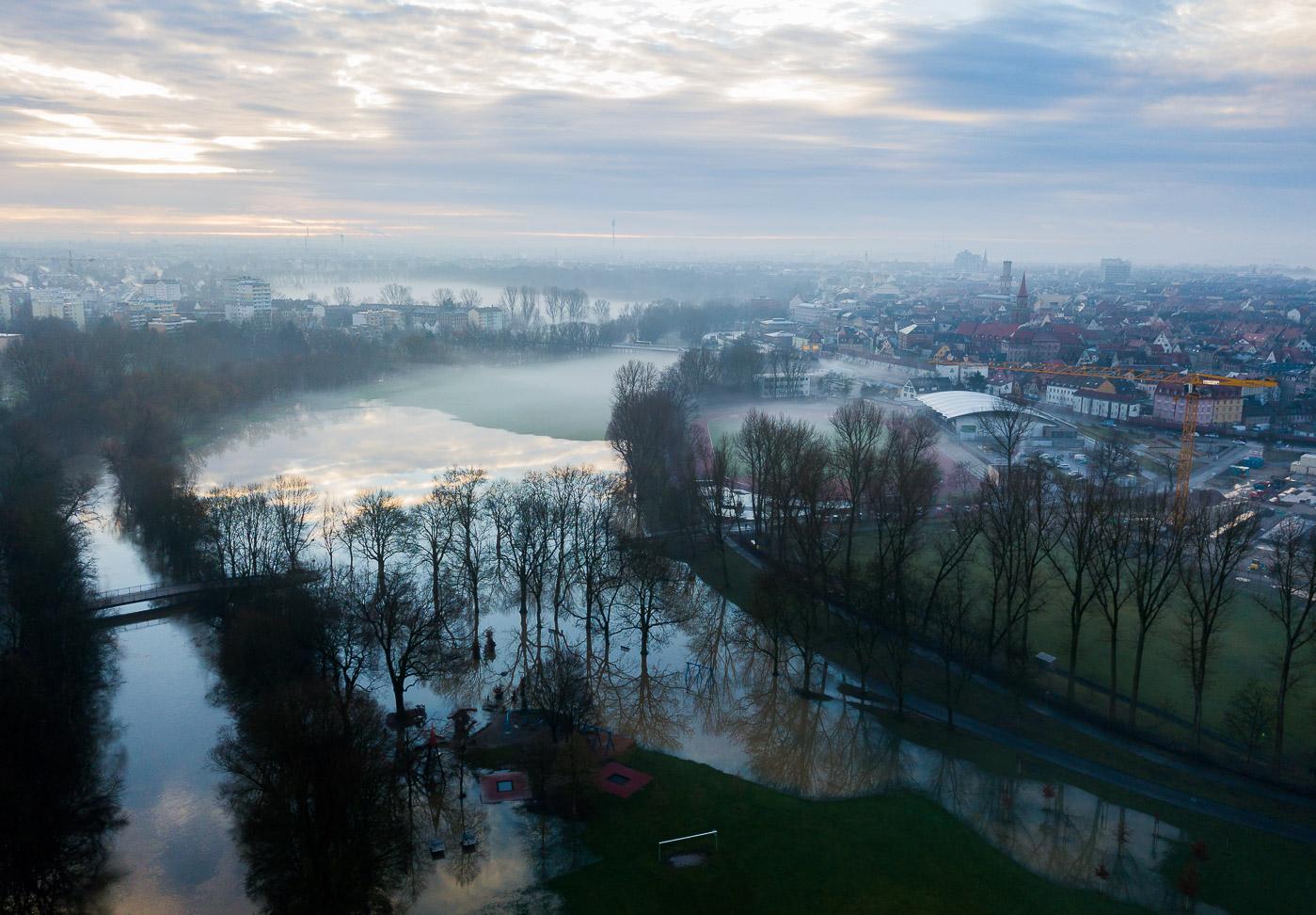 Hochwasser in Fürth
