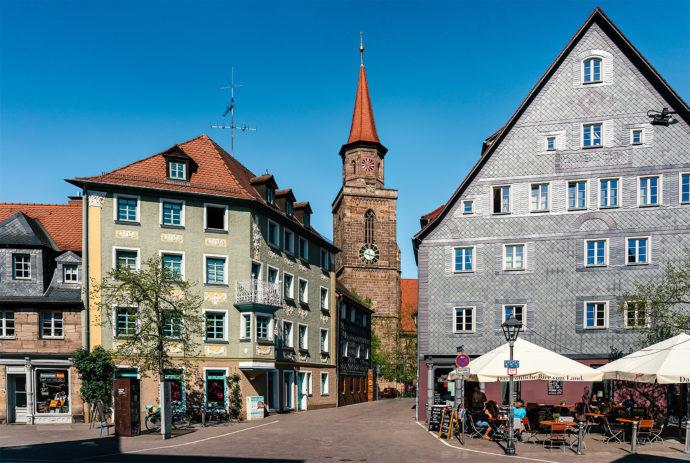 Gustavstraße Fürth und St.Michael