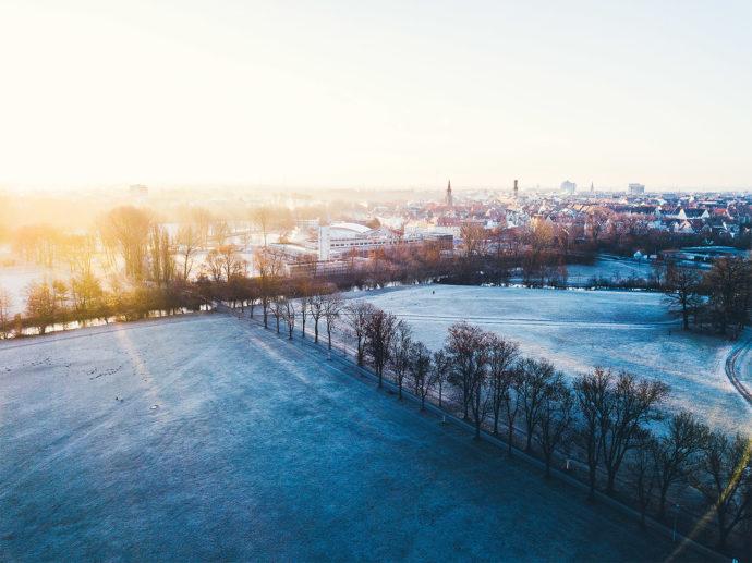 Wiesengrund Frost Fürth Käppnerweg.