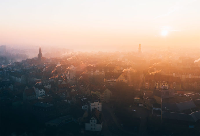 Fürth Altstadt Sonnenaufgang