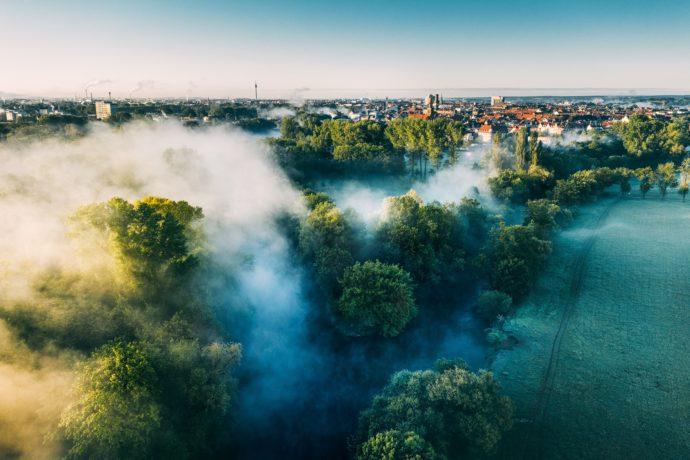 Flussdreieck Fürth Nebel
