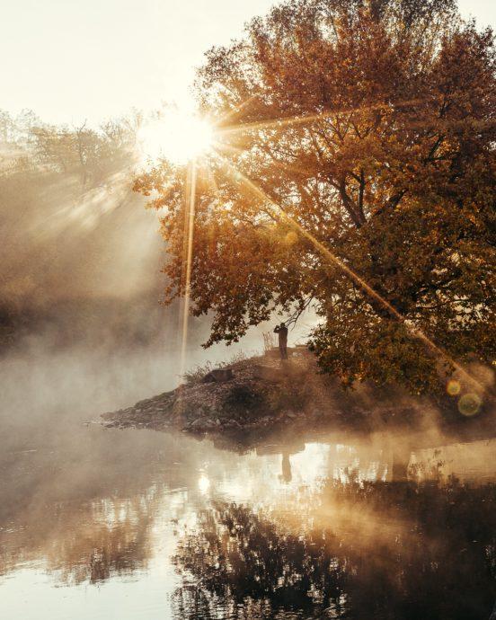 Fürther Flussdreieck Nebel
